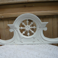 shabby chic,cottage chic, french country  wooden shelf of an antique cupboard from Brittany.