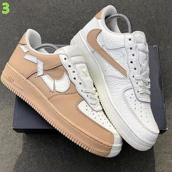 "Nike Air Force 1 ""Broken hook"" bilayer cortex Fashion casual shoes"