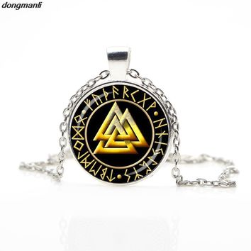 Slavic Norway Valknut pagan amulet pendant men necklace Scandinavian Viking jewelry Odin the symbol of the Nordic Viking warrior