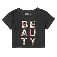 Beauty-Unisex Heather Onyx T-Shirt