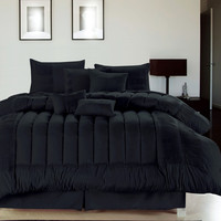 12pc SVLL. Black Luxury Size: Queen Sheet Set Color: Silver-Grey