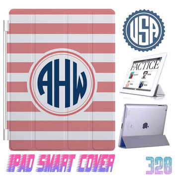 Stripes Monogram @ IPad Air Smart Cover , IPad Mini Smart Cover , IPad 4 Smart Cover , IPad 3 2 IPhone 5 5S cover iphone 4 4S Case Gift #328