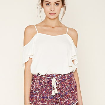 Belted Abstract Print Shorts | Forever 21 - 2000205407