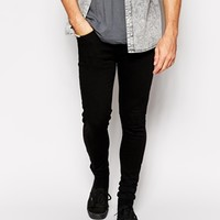 Criminal Damage Super Skinny Jeans in Black
