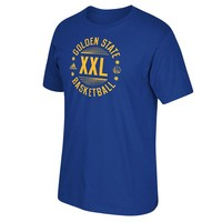 adidas Golden State Warriors XXL Tee - Men (Blue)