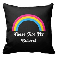 Pansexuality rainbow pride Throw Pillow