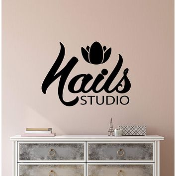 Vinyl Wall Decal Nails Studio Signboard Manicure Pedicure Salon Stickers (3105ig)