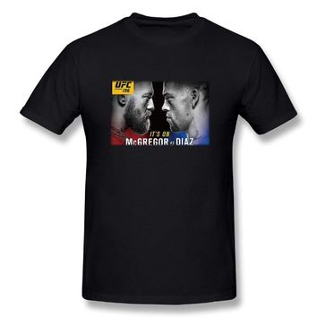 Conor Mcgregor Vs Nate Diaz Poster Mens Fashion Short Sleeve Tshirts