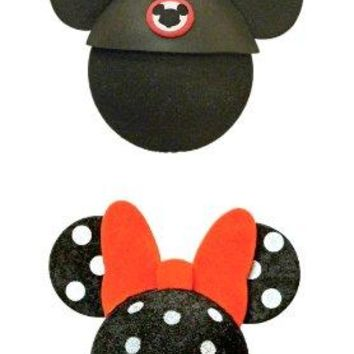 Disney Mickey Mouse and Polka Dot Minnie Mouse Antenna Topper Set