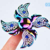 Fashion Creative colorful glittery Hand Spinner Anti Stress Rotation Toys-0526