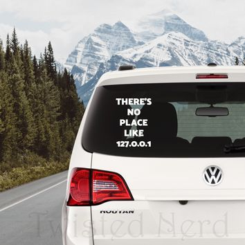 No Place Like.... Car Decal, Vinyl Decal, Movie Decal, Laptop Decal, Gamer Decal, Nerd Decal