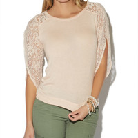 Lace Fly Away Sleeve Top