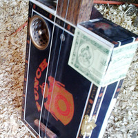 Cigar Box Guitar - 3 String - Primitive Electric or Acoustic