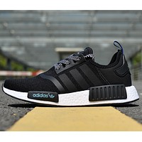 Adidas NMD  R1 BLACK men and women Fashion casual shoes