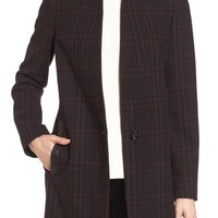 MICHAEL Michael Kors Plaid Wool Blend Coat | Nordstrom