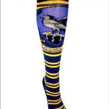 Harry Potter Ravenclaw Crest Cosplay Costume Long Knee High Boot Striped Socks
