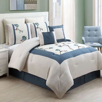 Victoria Classics Trousdale 8-pc. Comforter Set (Blue)