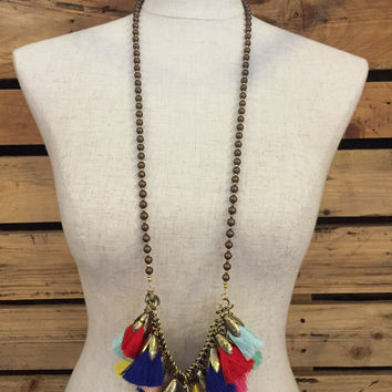 Betsy Pittard Designs- Rach Necklace- Brown