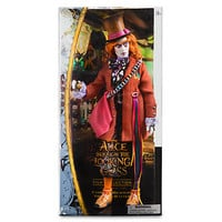 "disney alice through the looking glass mad hatter 13"" doll new with box"