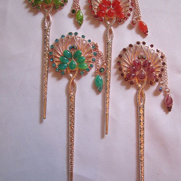Hair pins Decorative Hair Accessory Round Fan