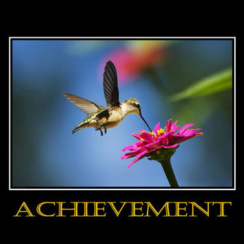 Achievement Inspirational Motivational Poster Art Print