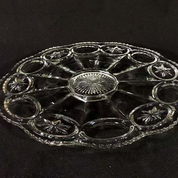 Vintage Cut Crystal Serving Platter