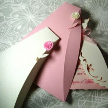 Bridal Wedding Invitation Boxes, Wedding Invitation Envelope, Rose Invitation Envelope, Handmade Invitation Envelope