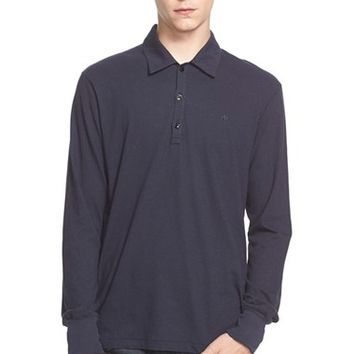 Men's rag & bone Long Sleeve Cotton & Linen Polo,