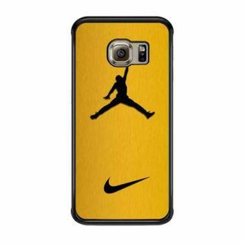 CREYUG7 Nike Air Jordan Golden Gold Samsung Galaxy S6 Edge Case