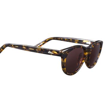 Dizm Eco Eyewear Harper Brown Sunglass, Tort, One Size