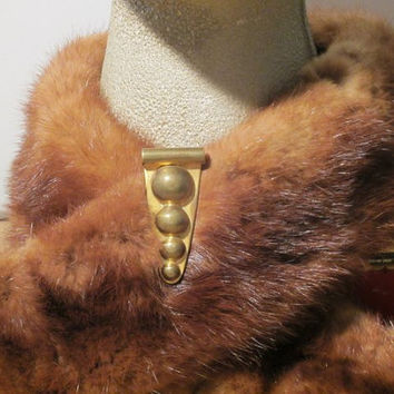 Modernist Fur Clip - 30s Deco Fur Clip - Vintage Jewelry - FREE SHIPPING