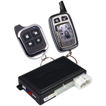 Astra 2-way Remote Security & Engine-start System With Keyless Entry, 1 Lcd Chrome 5-button 2-way & 1 Sleek Chrome 5-button 1-way Remotes