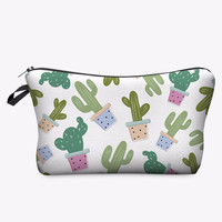Cactus Road Trip Makeup Cosmetics Bag