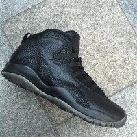 Air Jordan 10 OVO Black Basketball Shoes 40-47
