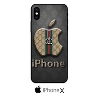 Top sale!!!Gucci11Apple Logo Fit Hard Case For iPhone 6 6s 7 8 Plus X Cover +