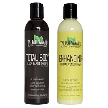 Taliah Waajid Total Body Black Earth Shampoo & Herbal Conditioner
