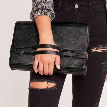 Missguided - Grab Strap Clutch Bag Black