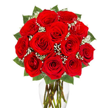 Red Roses Flower Bouquet Saturday Delivery