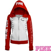 Cincinnati Reds Victoria's Secret PINK® Color Block Full Zip Hoodie - MLB.com Shop