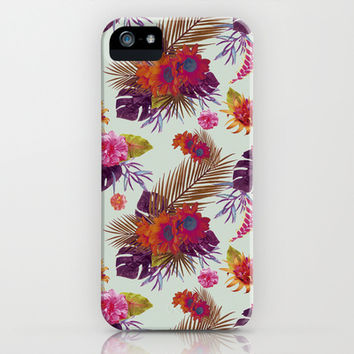 TROPICAL FLORAL PASSION iPhone & iPod Case by Nika