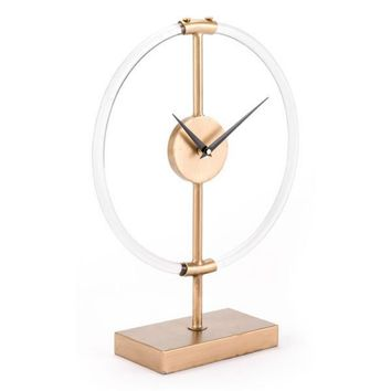 Clear Clock Gold