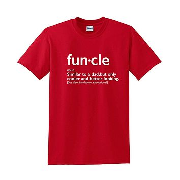Funcle Uncle Gift Idea Novelty Graphic Humor Sarcastic Cool Very Funny T Shirt - Logoz Custom T Shirts