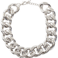 Misfit Chain Necklace Set in Silver