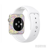 The Subtle Abstract Flower Pattern Full-Body Skin Set for the Apple Watch