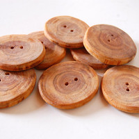 Cherry Wood Buttons - Large 4cms 2 Holes