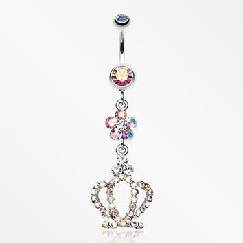 Flower Crown Sparkle Belly Ring