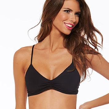 L*Space Summer Solids Haley Bikini Top - Black
