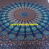 Floral Tapestry, Mandala Tapestry, Beach Throw, Bohemian, Bedspread, Tapestry, Home Decor, Hippie Tapestry, Wall Hanging, Picnic Blanket D12