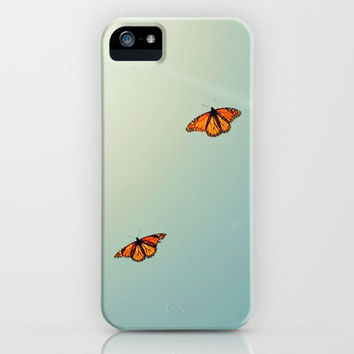 Monarch Sky Love iPhone & iPod Case by RichCaspian