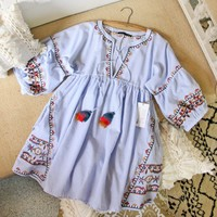 Elise Embroidered Dress